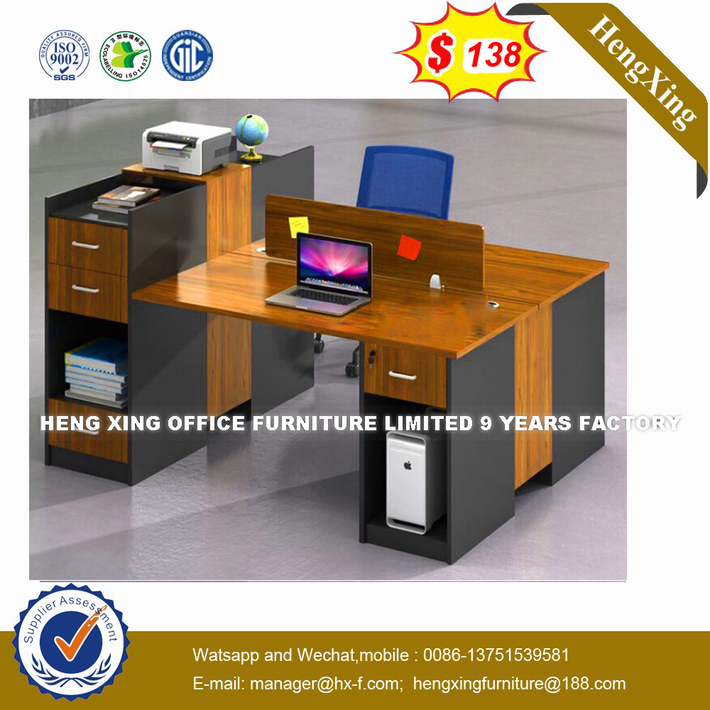 Modern Aluminum Glass Wooden Cubicle Workstation / Office Partition (HX-8N0185) pictures & photos