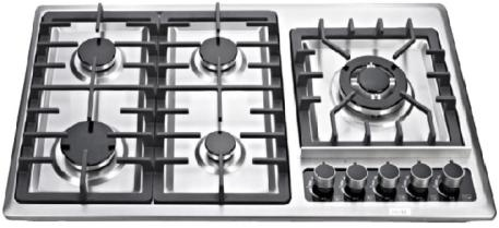 China New Style Kitchen Multi Head Gas Stove Stainless Steel Gas Stove Five Head  Gas Stove - China Built-in Hob and Turbo Cooker Hod price