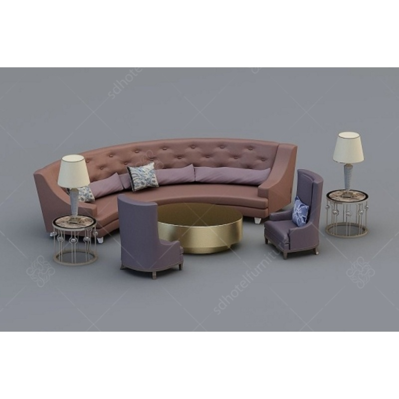 China Customized Hotel Furniture Luxury Lobby Round Sofa Special For