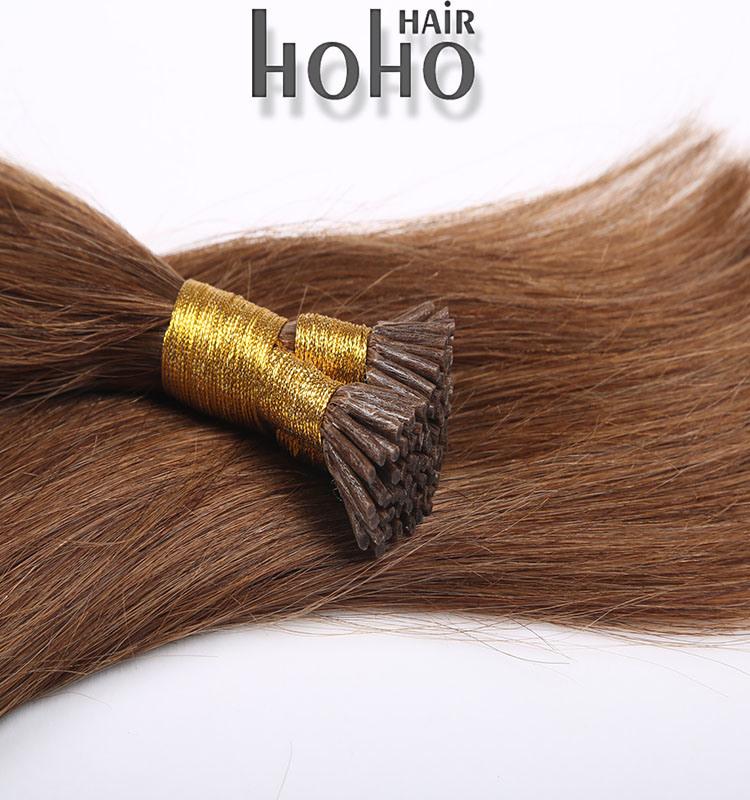 China Wholesael Keratin Glue Hair Brown 14 Inch Keratin I Tip Hair