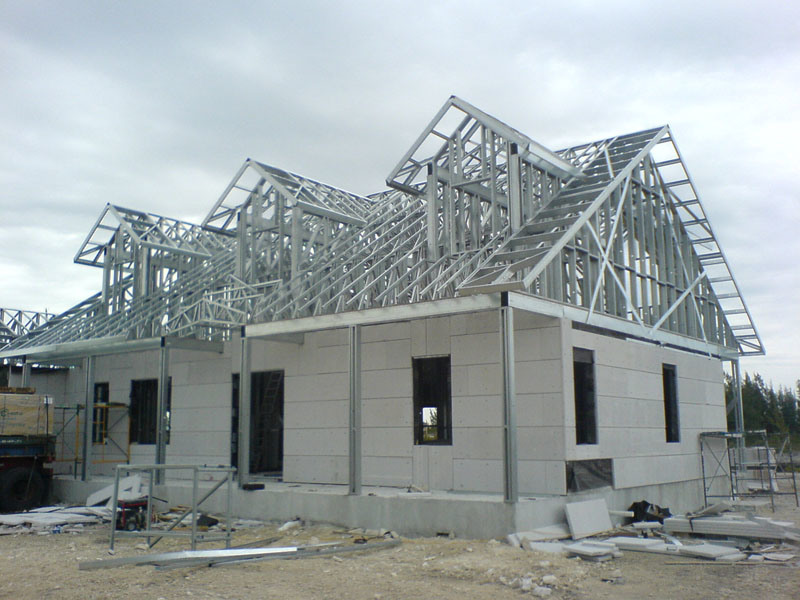 China light steel frame house prefab house container house for Steel frame cabin