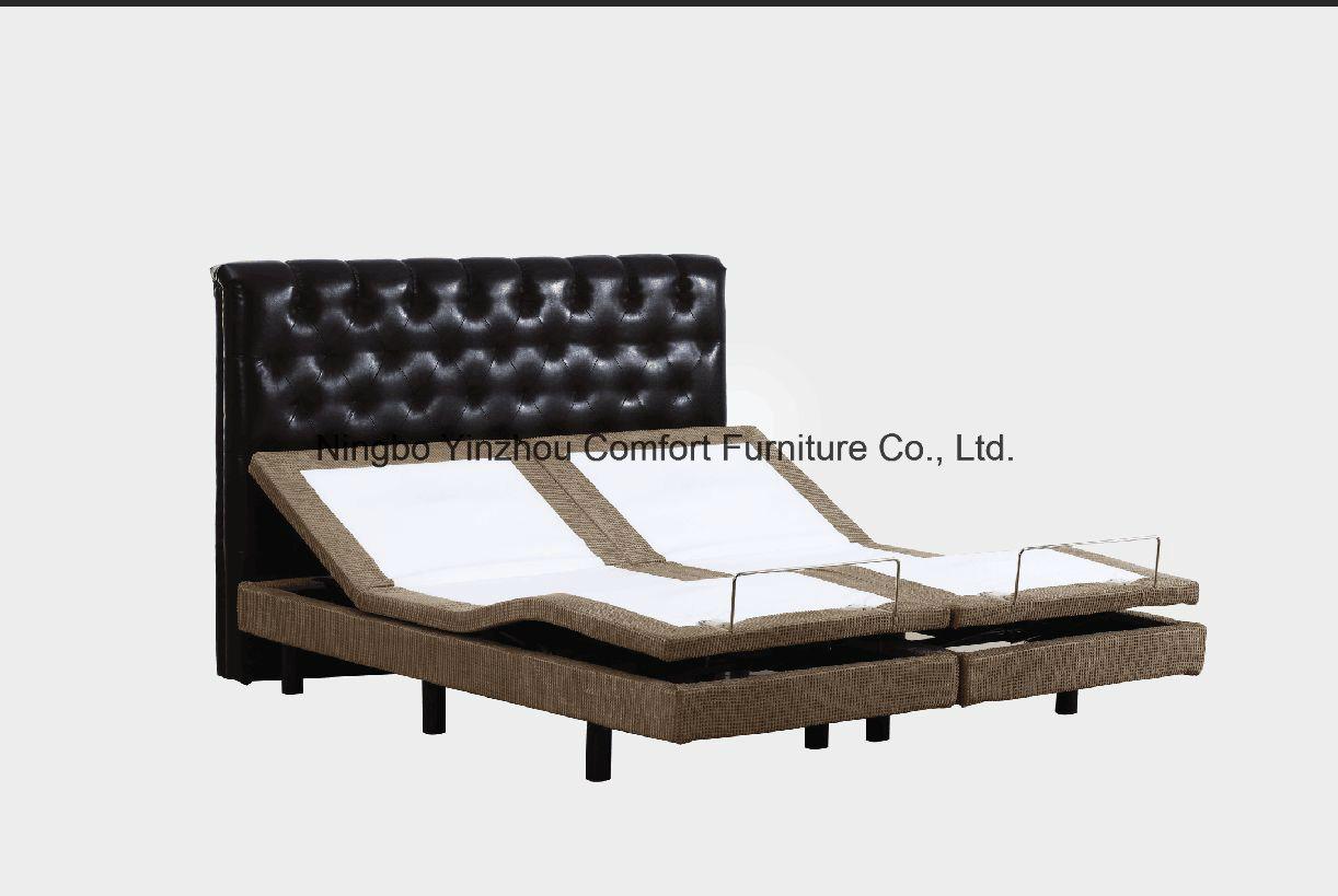 China Massage Motor Okin Motor with Memory Foam Mattress Split King ...