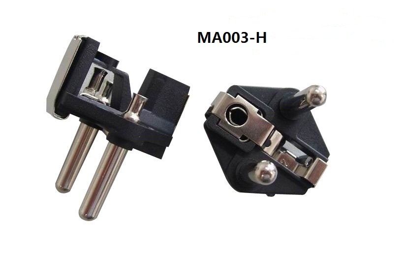 2 Pin Plug Insert with Hollow Pins (MA003-H)