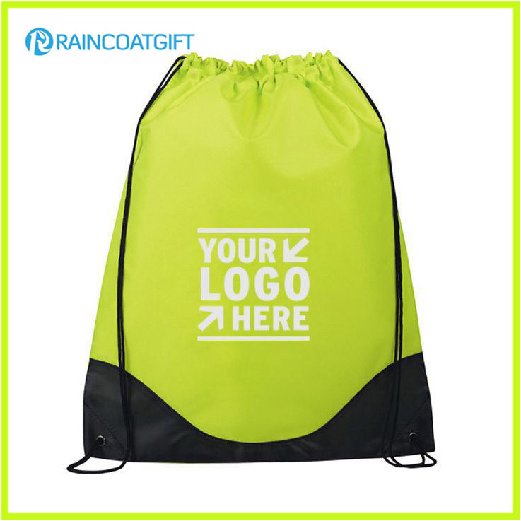 Eco-Friendly Folding Reusable Nylon Drawstring Bag Drawstring Backpack
