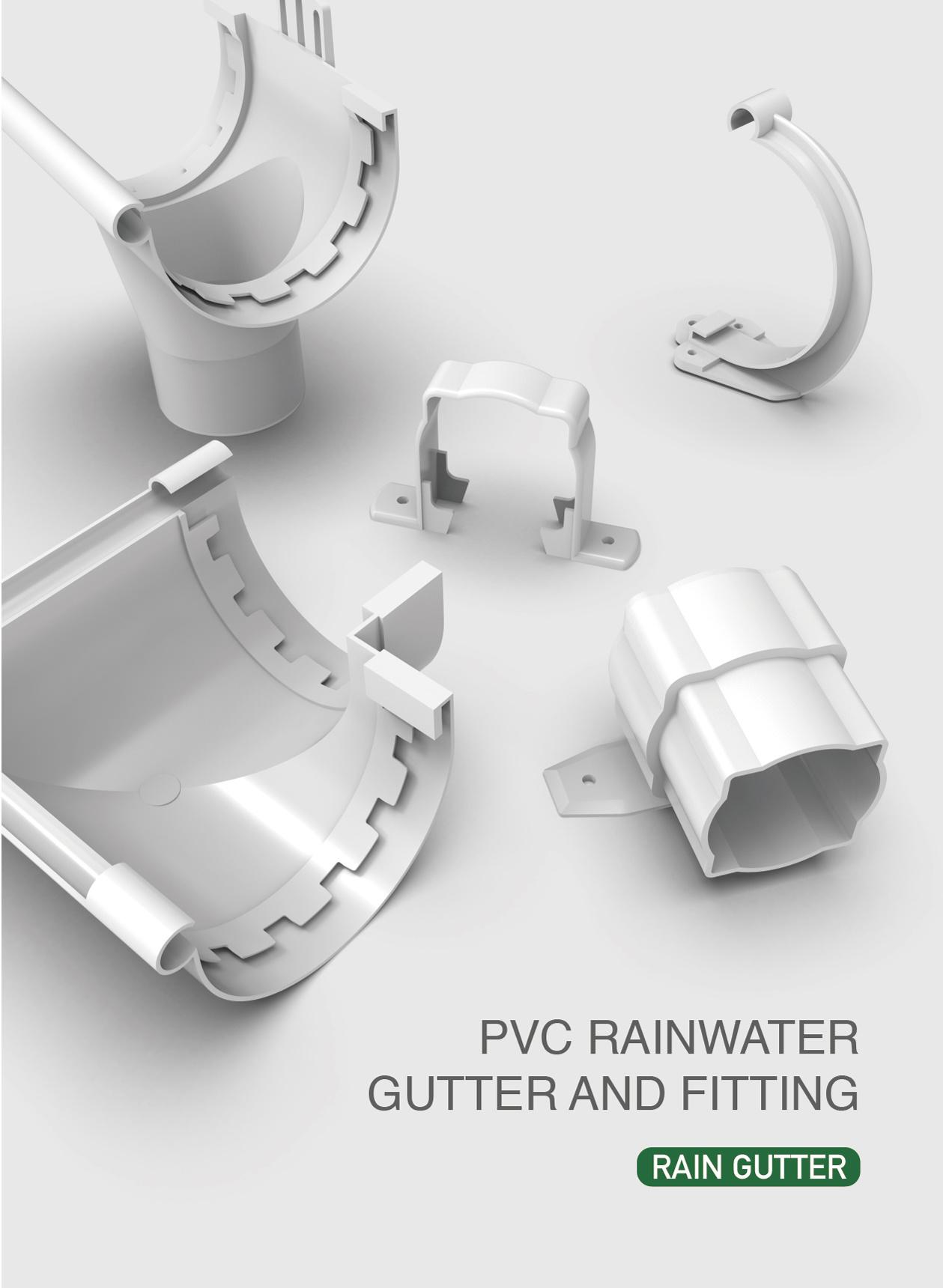 China Era Piping Systems Pvc Rain Gutter And Fittings Rain