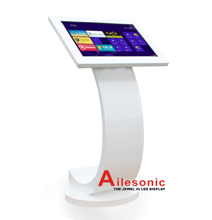 Advertising LCD Display Floor Standing 27 Inch Touch Screen Kiosk