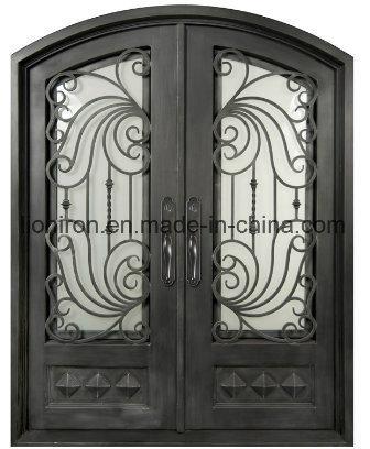 China Lower Price Iron Entry Doors Antique Bronze Front Iron Doors