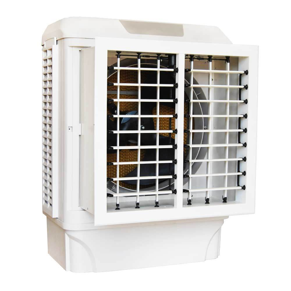 China Honeycomb Cooling Pad Window Type Air Water Room Cooler Fan
