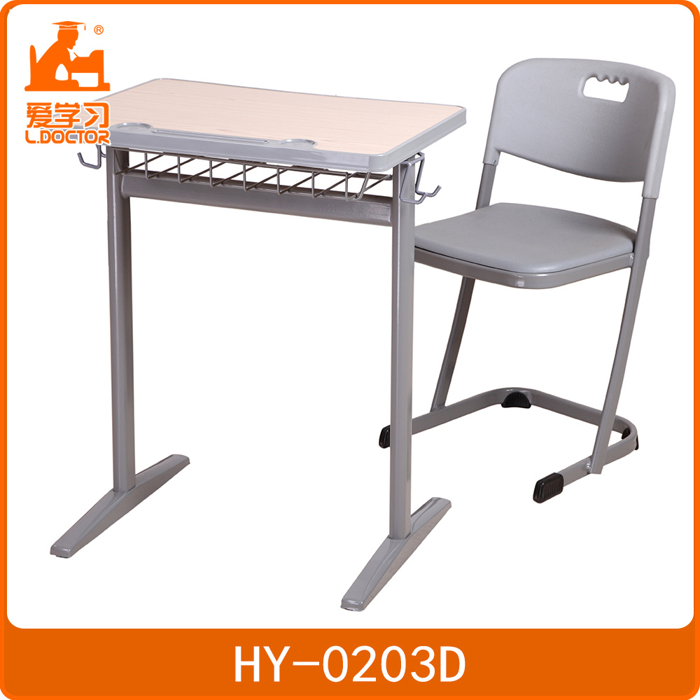 China Single Study Student Desk Table Children School And Chair Set