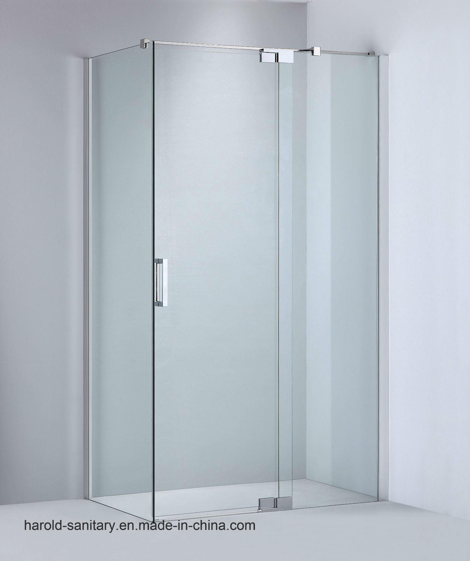 Hot Item Pivot Hinge Open Glass Shower Screen