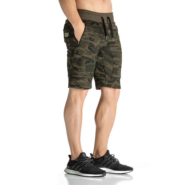 b69dd13bd3f2 Wholesale Jogger Sweat Shorts Custom Fitness Camo Army Green Gym Men Print Shorts  Pants