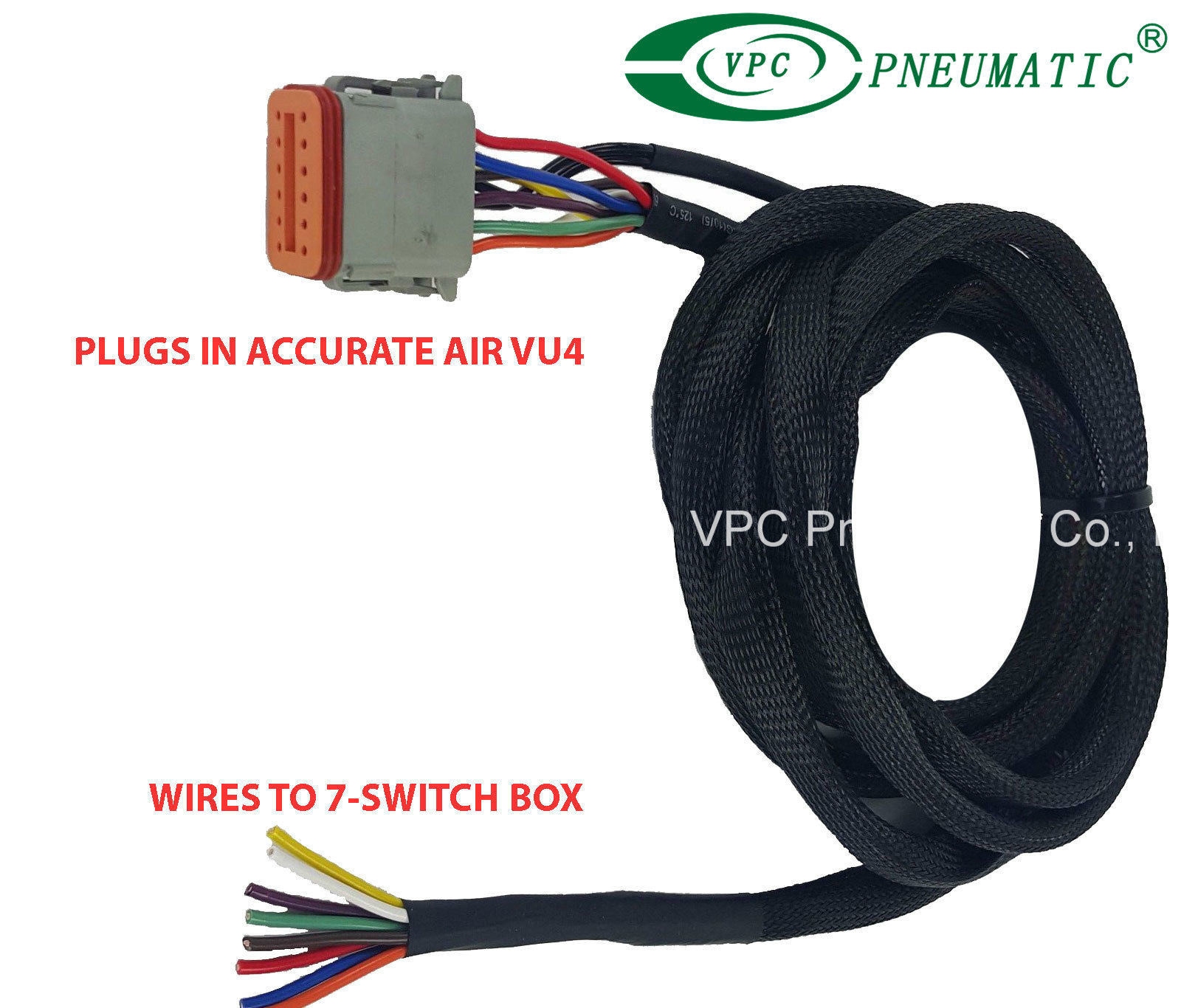 China Air Ride Suspension Vu4 Wiring Harness Connects Valves To Any Box Avs Switch Valve
