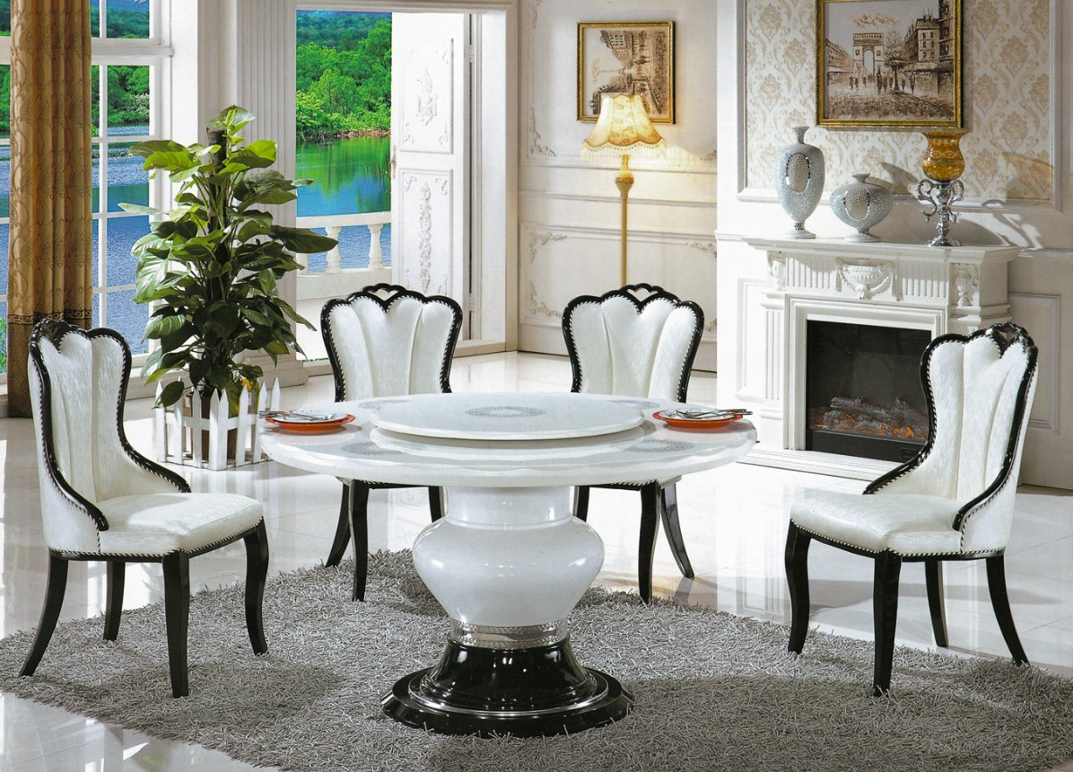 China 2018 New Design Marble Table Top Dining Chair