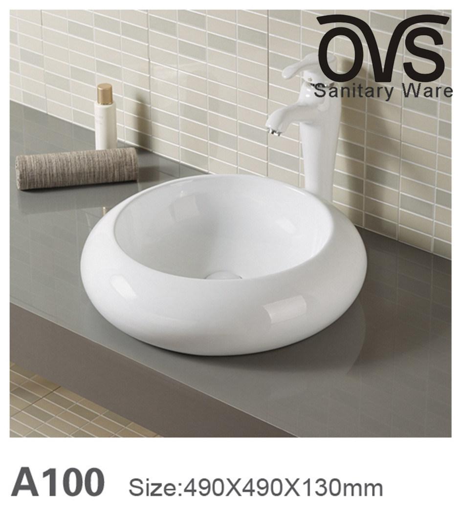China Round Bathroom Cabinet Basin