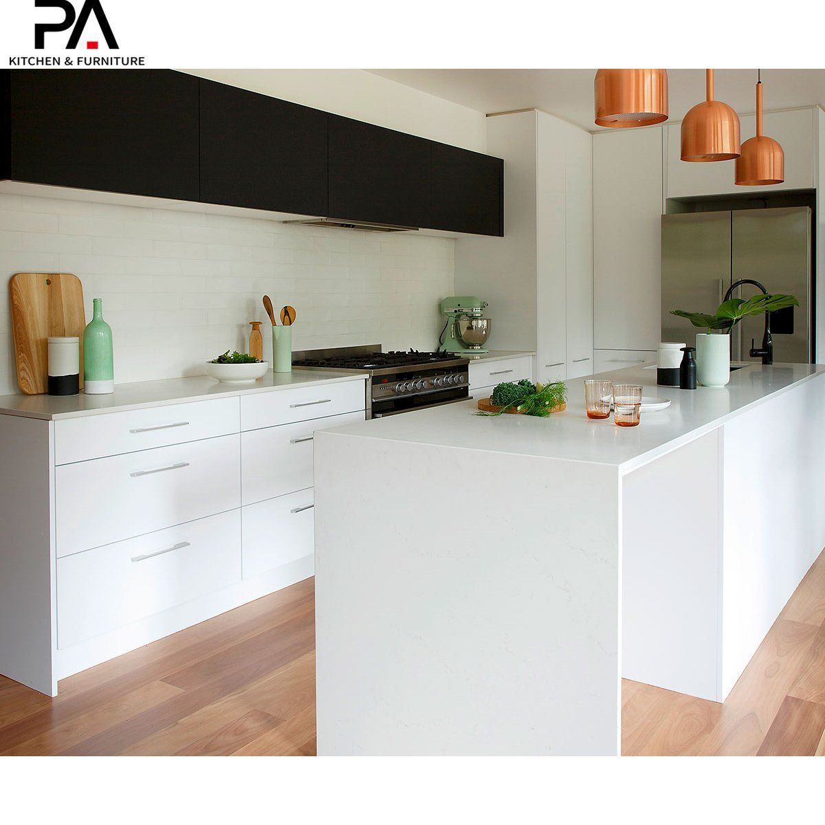 China Two Tone Contemporary Frameless Kitchen Cabinet China Kitchen Cabinets Kitchen Furniture
