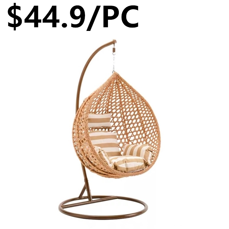 Mid Century Rattan Chair, China 2020 New Design Metal Stand Double Hanging Egg Swing Chair China Swing Chair Hanging Chair