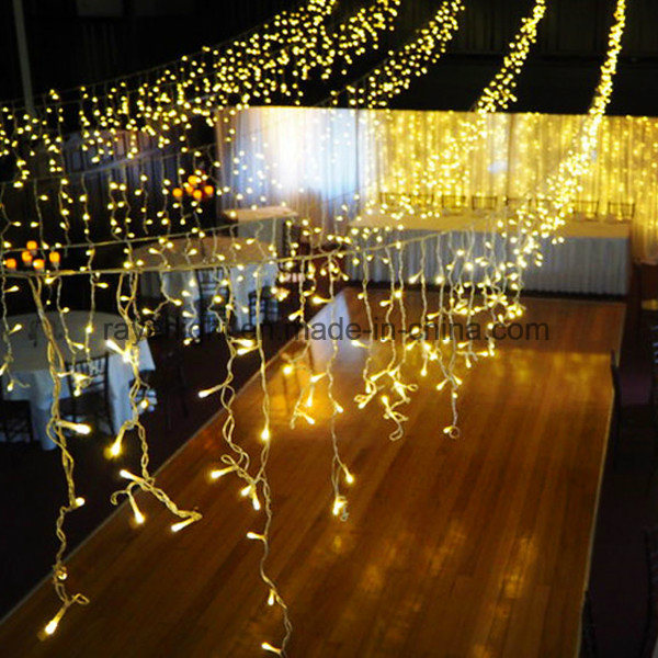 China Warm White Christmas Led Icicle Lights For Outdoor Decorations