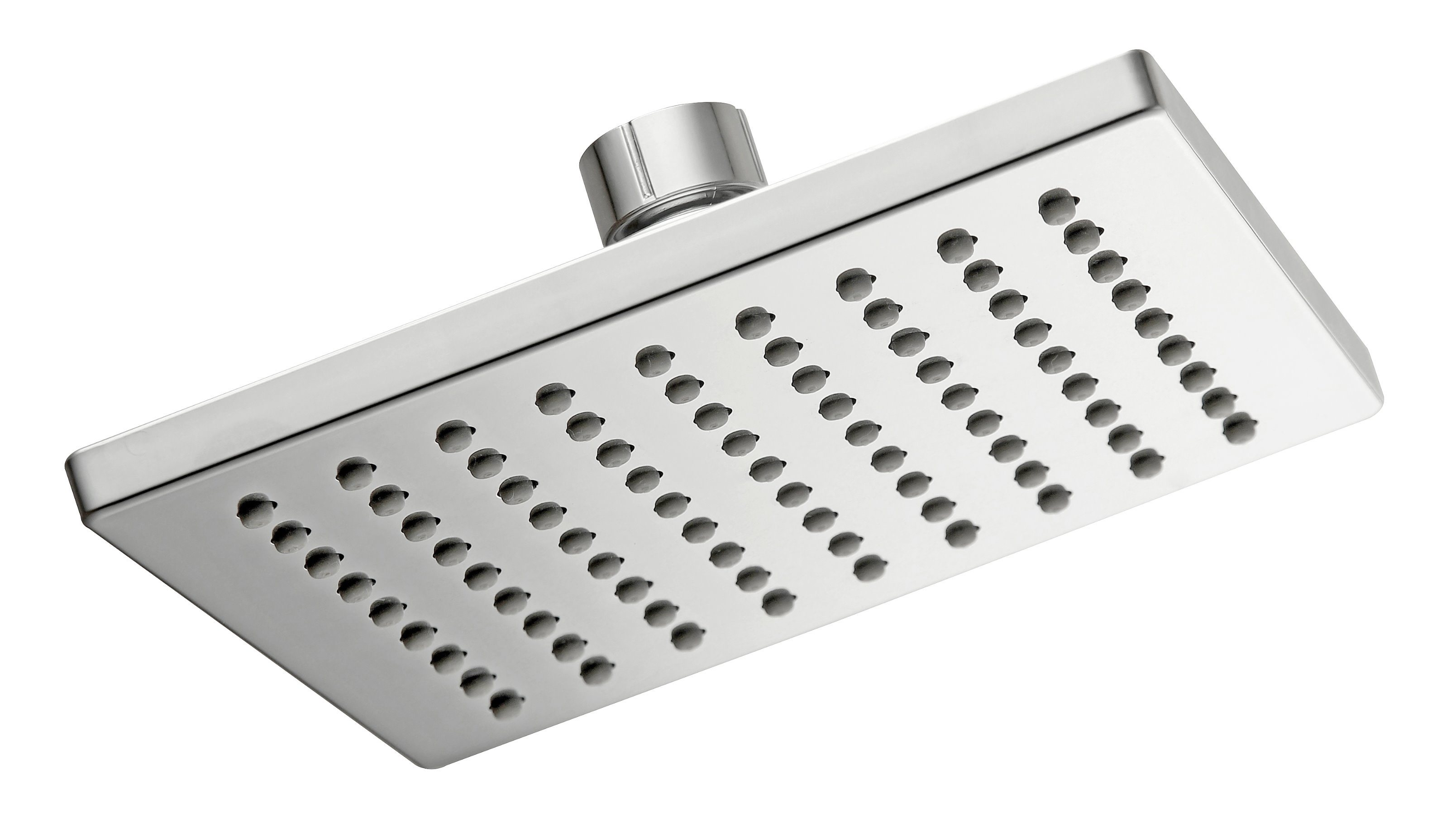 Hot Item Rain Shower Bathroom Shower Head Shower Stainless Steel Plate 1 Function 6 Square Overhead Shower Rain Shower B28511 Chrome Face Water
