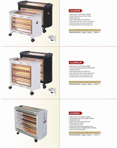 Quartz Heater 5, 000 Hours Lifespan Infrared Heater in Winter pictures & photos