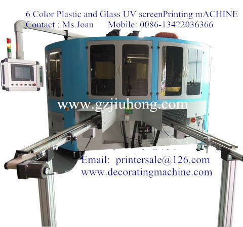 Glass Bottle Screen Printer with LED UV