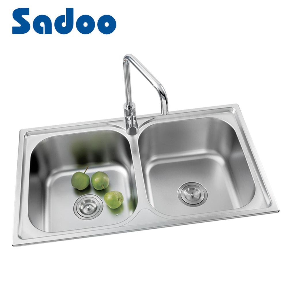 China used stainless steel kitchen sinks for sale sd 8007 china double bowls kitchen sink stainless steel twobowl top mount kitchen si