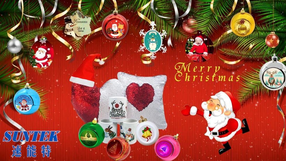 Wholesale Christmas Decorations Sublimation Ceramic Blank Pendant/Ornament