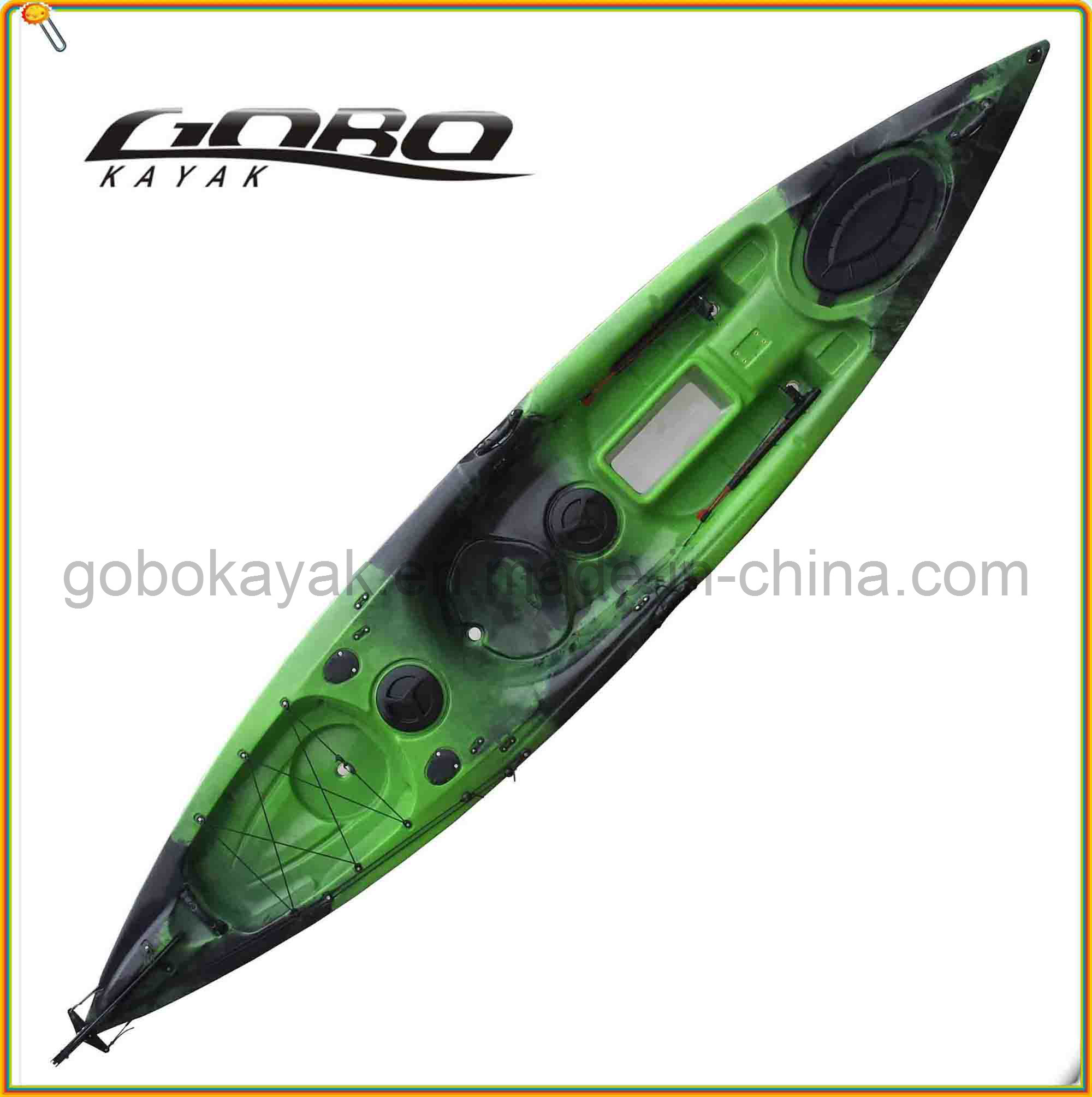Polyethylene Single Fishing Kayak with Paddle &Pedal pictures & photos