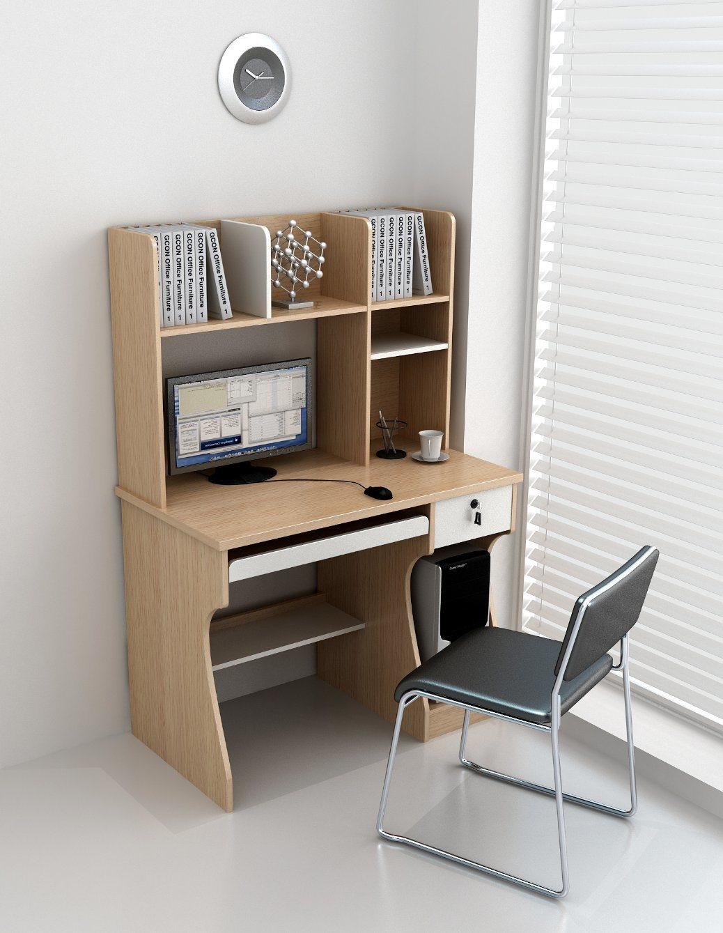 China Home Furniture Modern Computer Desk For Children With Bookshelf Wooden