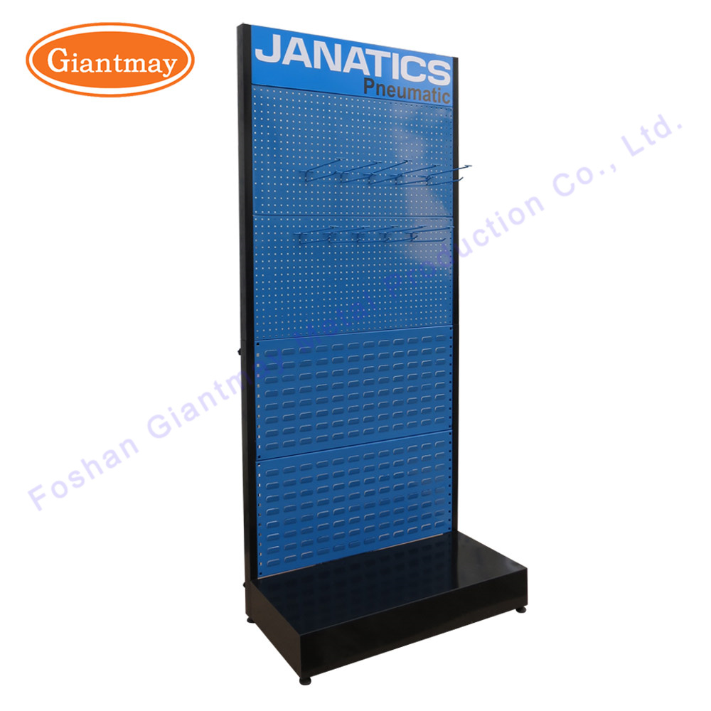 China Retail Store Tools Display Hardware Shelf Rack with Perforated ...