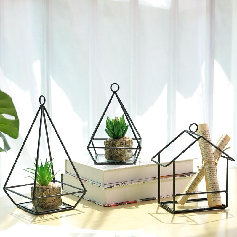 China Simple Modern Geometric Glass Ornaments Living Room Balcony