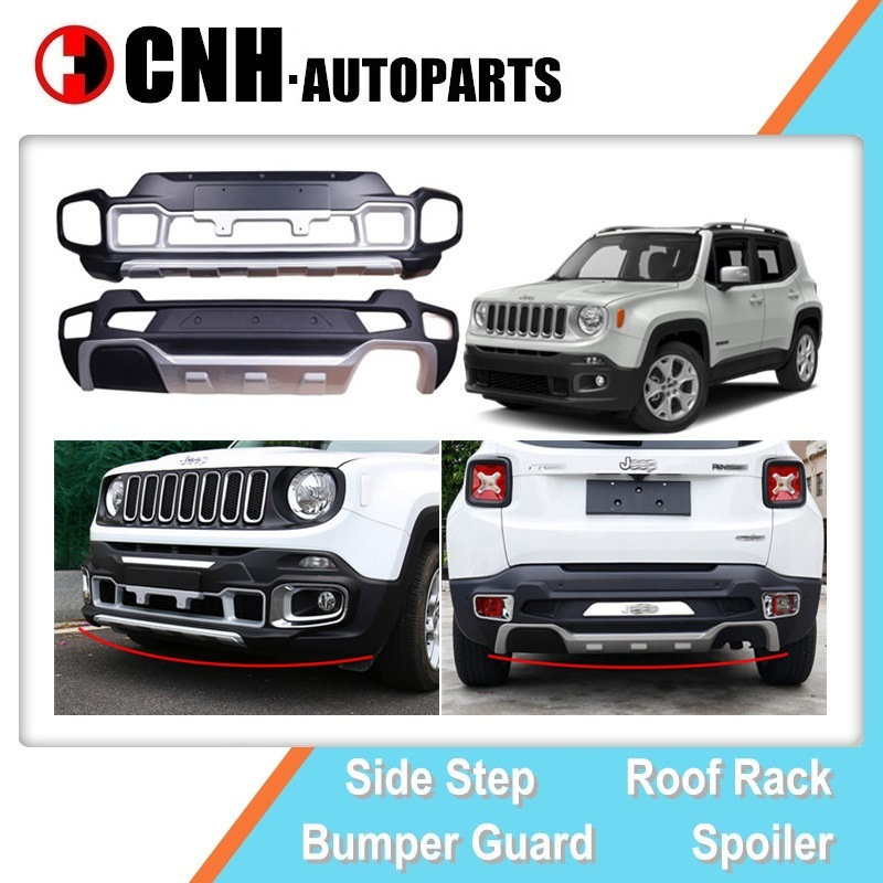 China Plastic Front Guard And Rear Bumper Diffuser For Jeep Renegade 2016 2018 China Renegade Bumper Guard