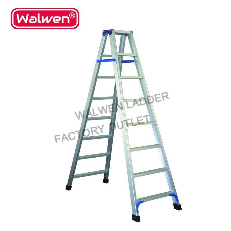300cm Height Attic Step Ladder A Frame Platform 2 Two Section Folding Aluminium