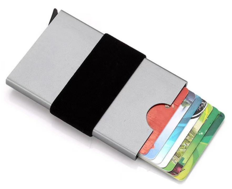 China RFID Blocking Automatic Credit Card Holder Business Cards ...