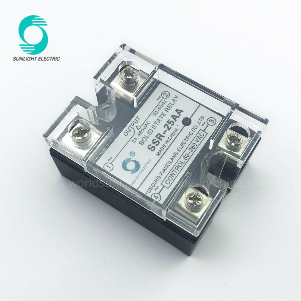 China Ssr 25aa Indicator Light 25a 90 280v Ac To 24 480v Solid State Relay Schematic Single Phase