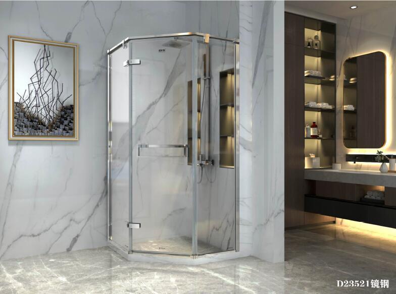 China Bathroom Bathtub Shower Enclosure, Corner Shower Curved Glass Doors
