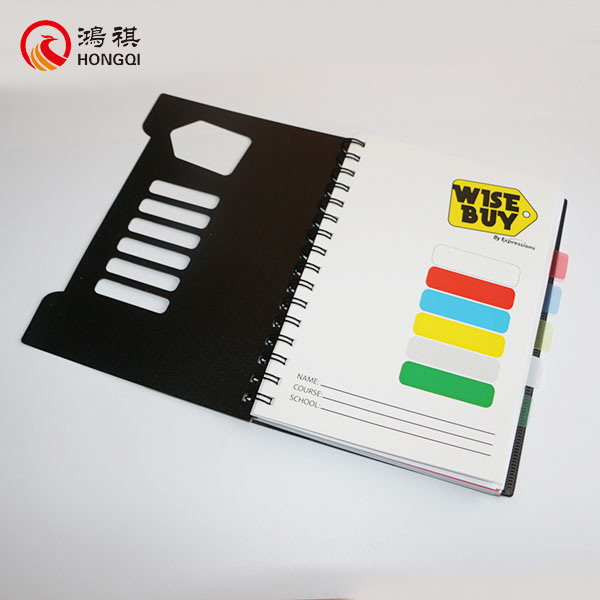 Black PP Cover Spiral Notebook