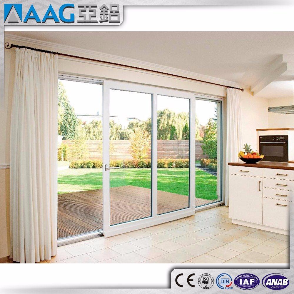 Sound Proof Aluminum Double Glass Sliding Door