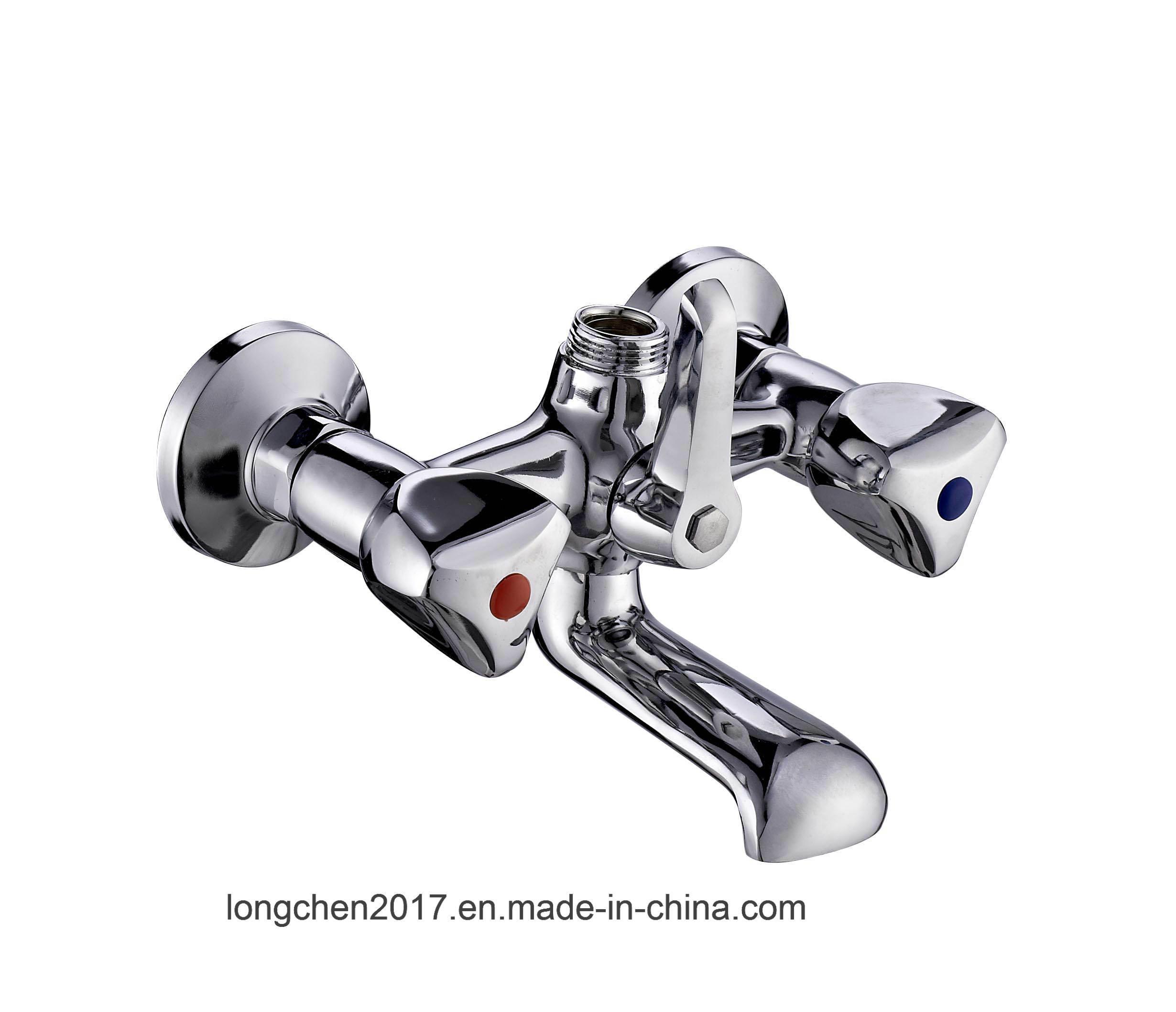 China Wholesale Double Handle Bath Faucet 60076-Zsj - China Faucet ...