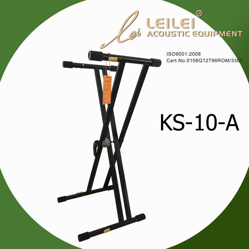 Heavy-Duty Double X Keyboard Stand (KS-10-A)