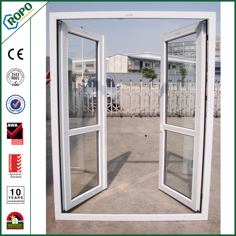 China Import Pvc Profile Open Outside Tempered Glass Doors China