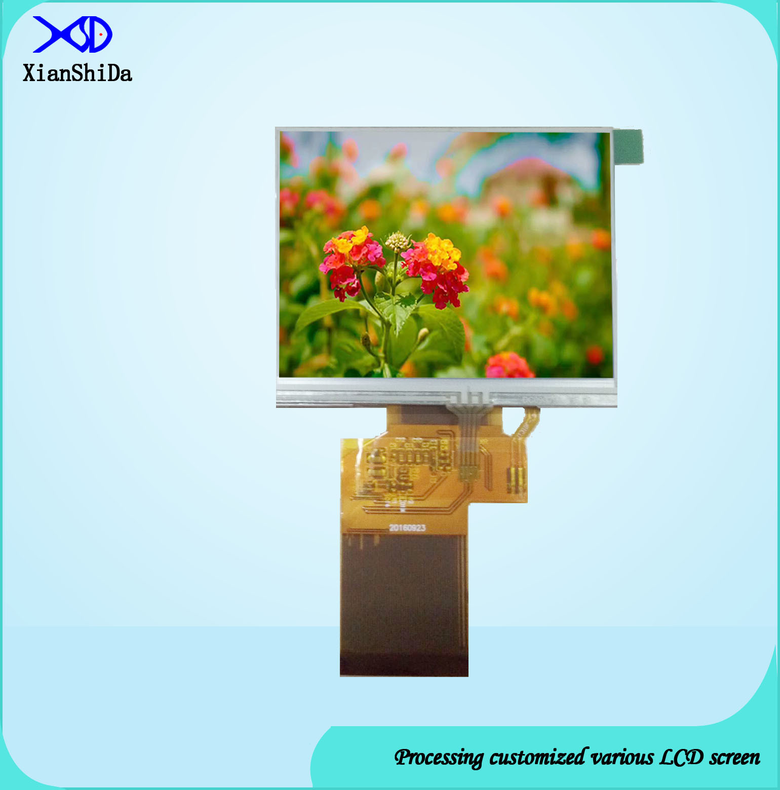 Full Viewing Angle 3.5 Inch TFT LCD Monitor with Resistive Touch Screen Display