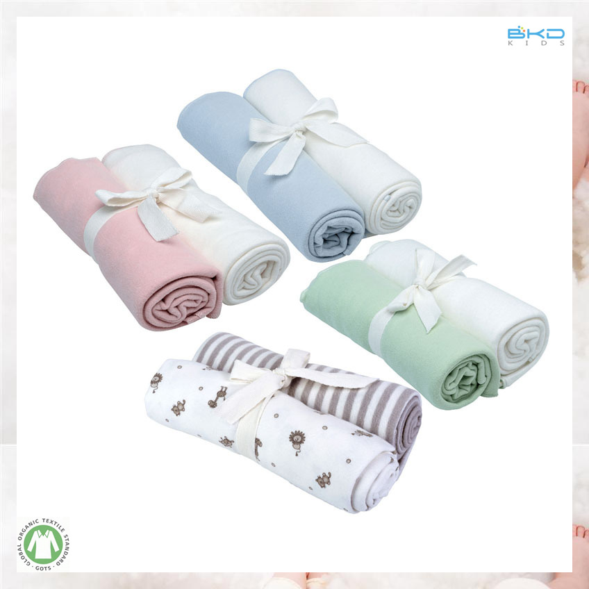Custom Color Baby Accessory Gots Baby Blanket