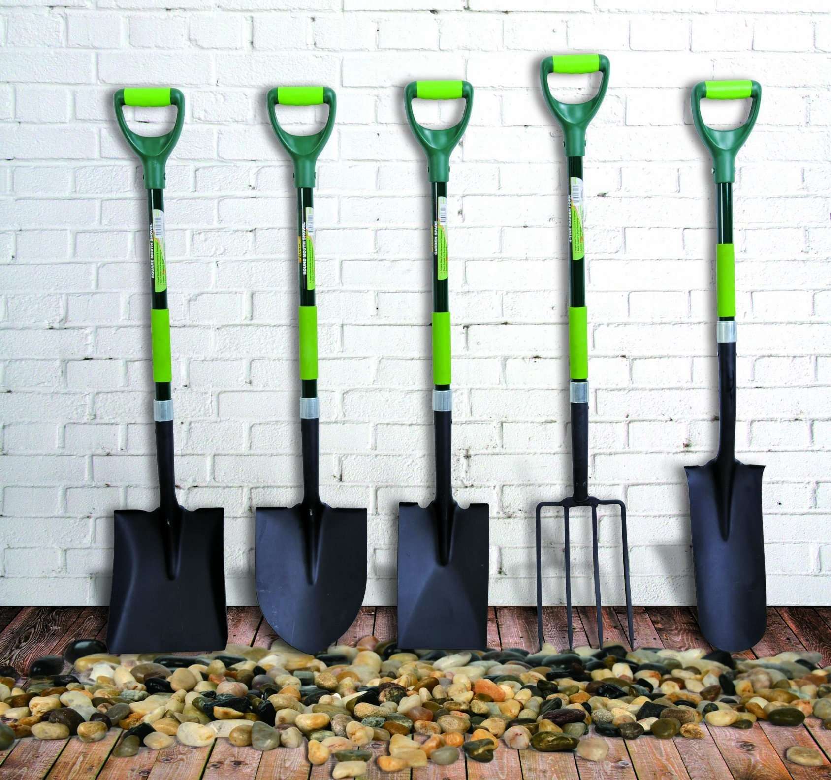 Garden Tools D Shaped Forged Steel Square Point Shovel with Fibreglass Handle pictures & photos