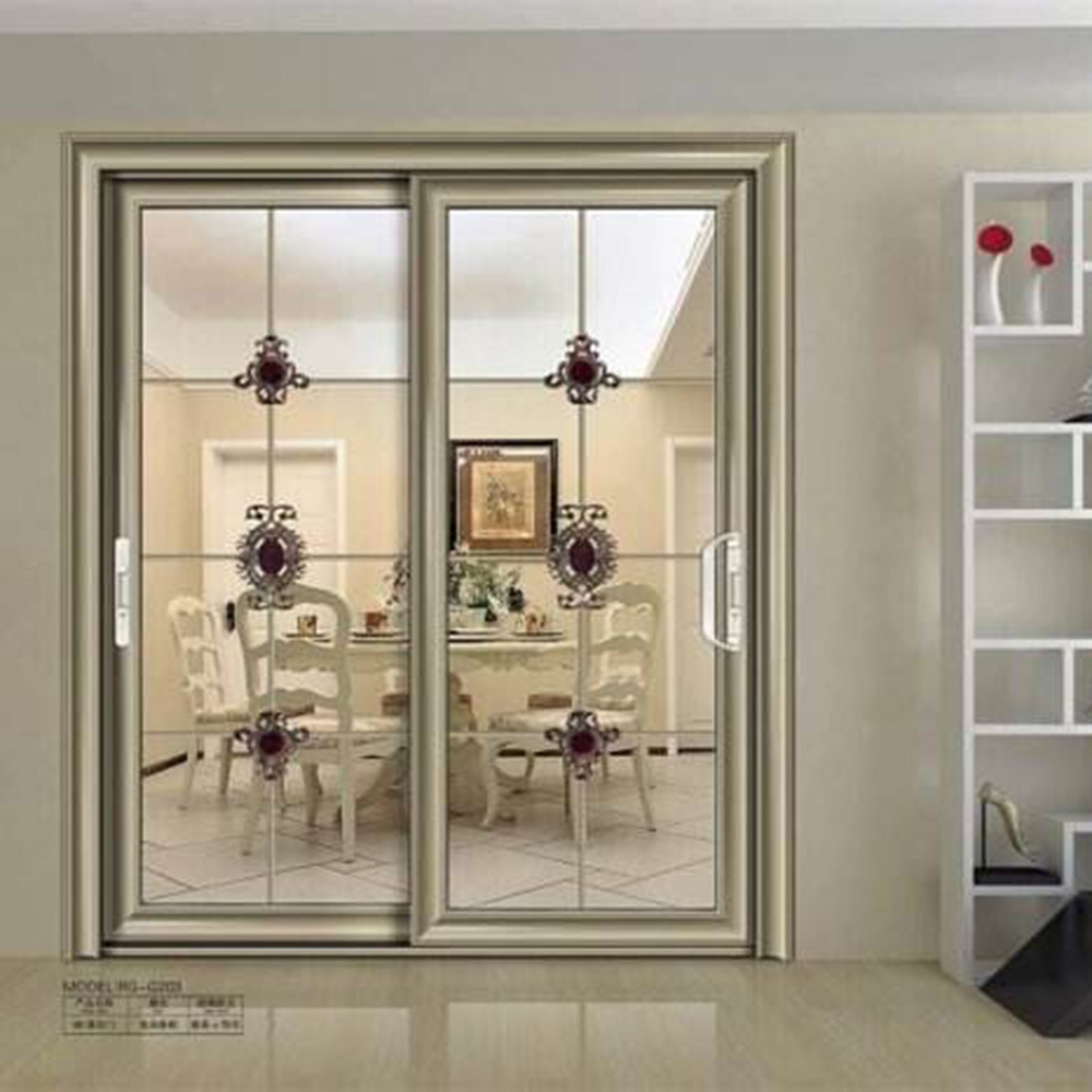 China Aluminum Alloy Glass Partition Doors For Kitchen Price China