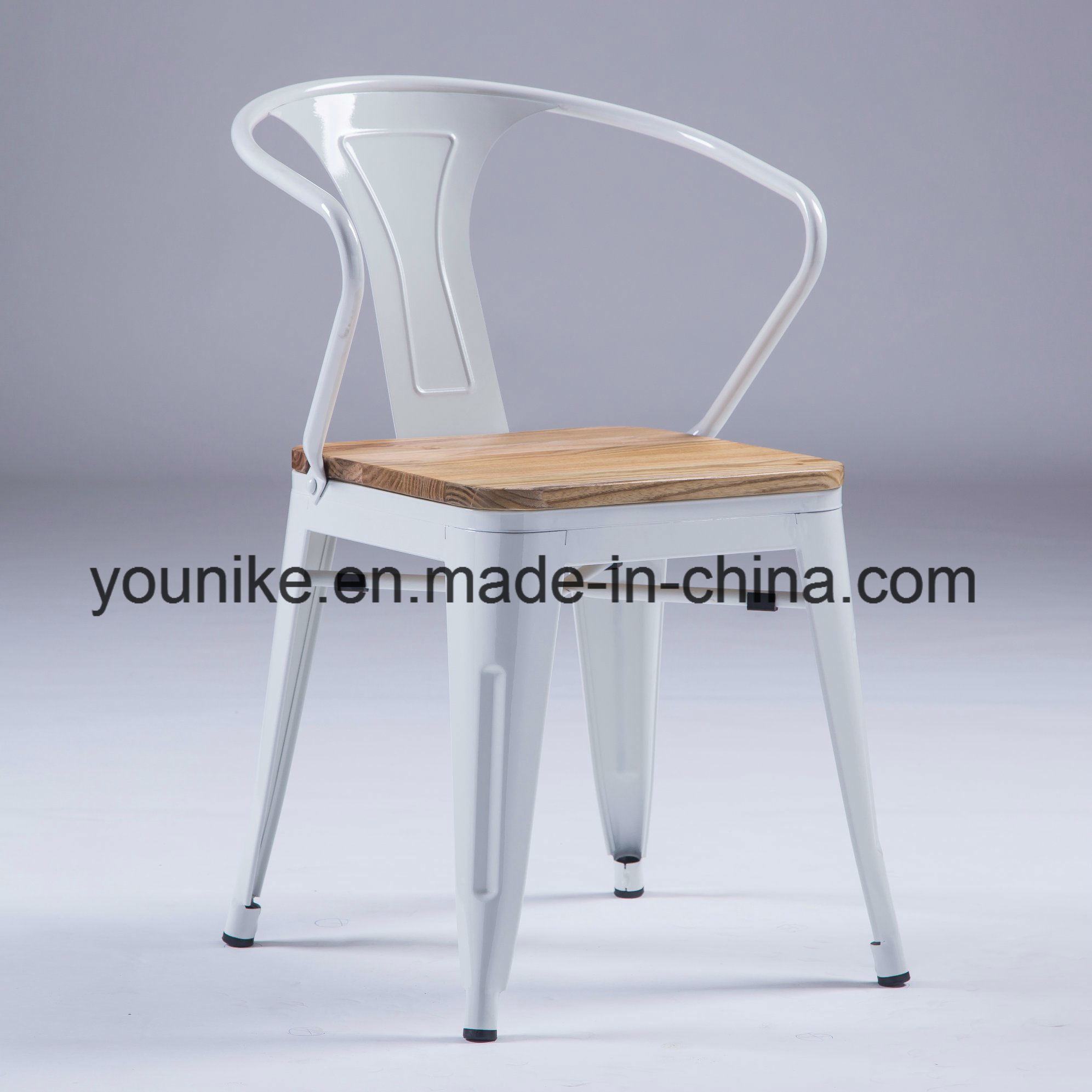 Super China Industrial Armchair With Wood Tolix Metal Dining Chair Machost Co Dining Chair Design Ideas Machostcouk