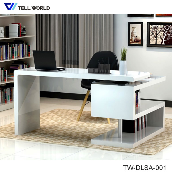 [Hot Item] Modern White Corian Acrylic Solid Surface Study Table Office Desk