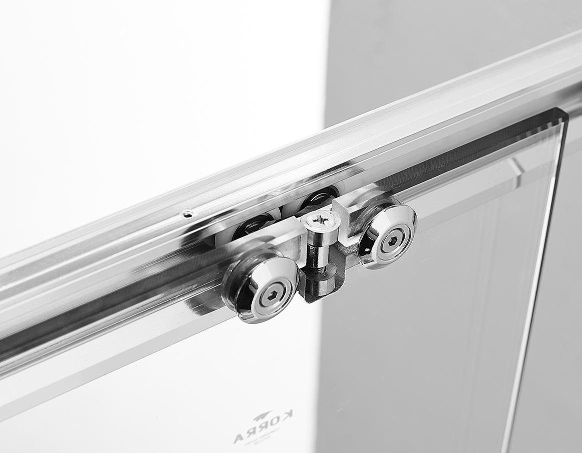 China Simple Elegent Semi Frameless Sliding Shower Door