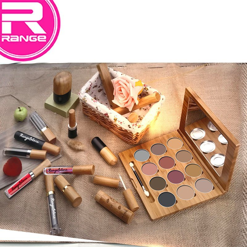 environment Friendly Bamboo Material Makeup Kit Non Plastic Makeup Series Bamboo Cosmetic pictures & photos