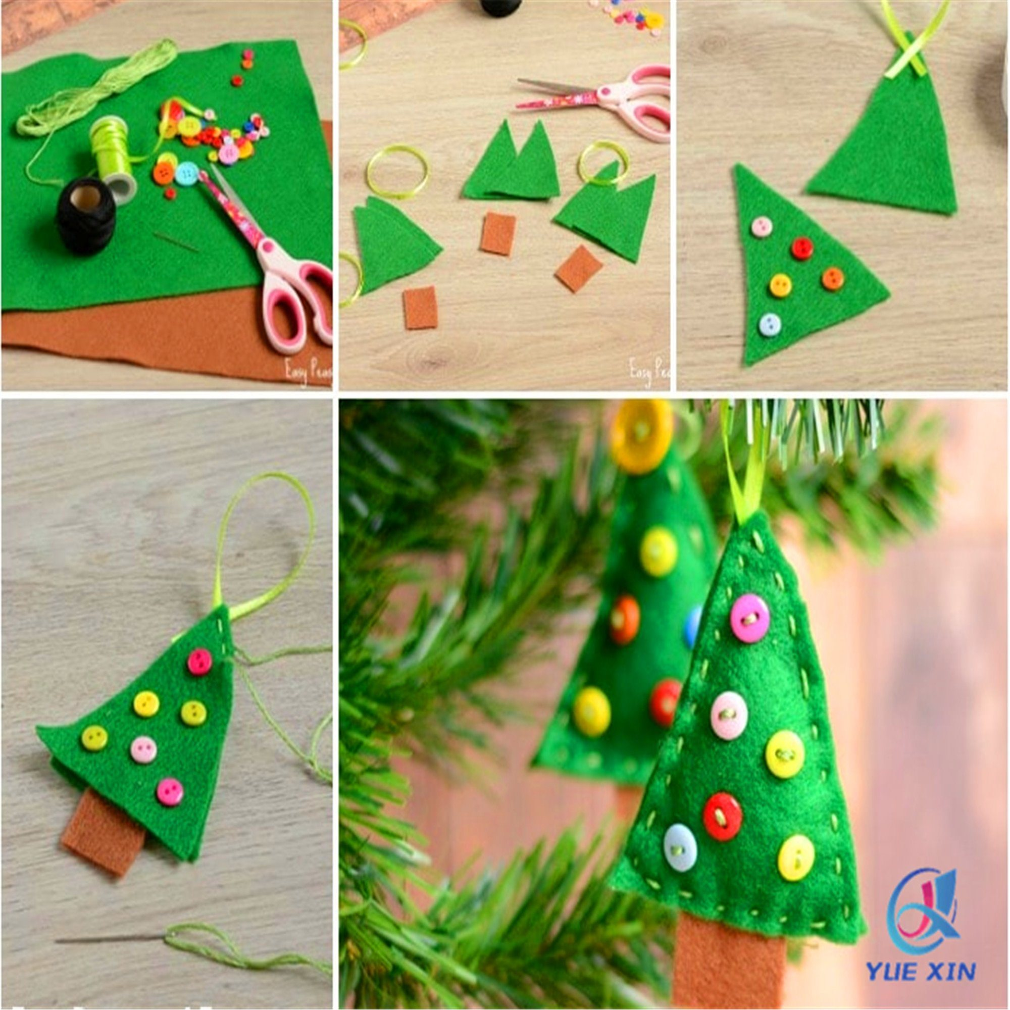 China Green Felt Christmas Tree Ornaments - China Felt Ornaments, Christmas Tree Ornametns