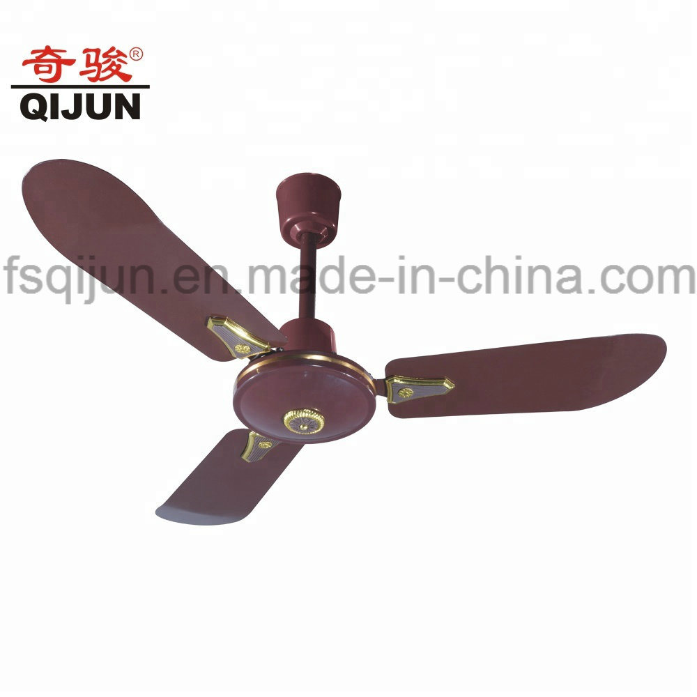 China 36 Inch Small Bedroom Metro Brown Ceiling Fan To Iraq